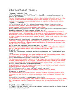 enders game theme essay essay Ender's game themes analysis-book summary/analysis/chapter notes/free book notes/online/download/by orson scott card cliff notes™ themes - theme analysis.