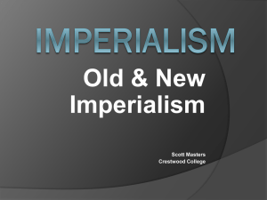 Old and New Imperialism