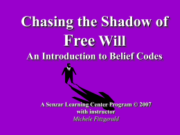 Chasing the Shadow of Free Will An Introduction to Belief Codes A