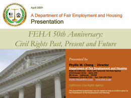 an informative review of the DFEH's history and current activities