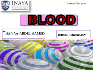 blood - INAYA Medical College