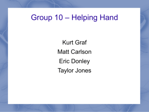 Group 10 – Helping Hand - Department of Electrical Engineering