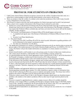 Protocol for Students on Probation