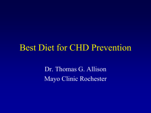Best Diet for CHD Prevention