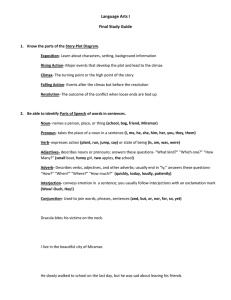 Language Arts I Final Study Guide
