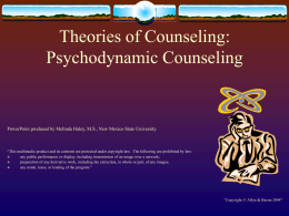 Theories of Counseling