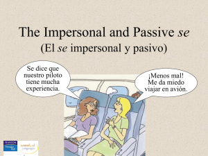 The impersonal and passive se