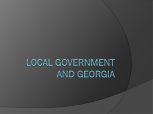 Local Government and Georgia