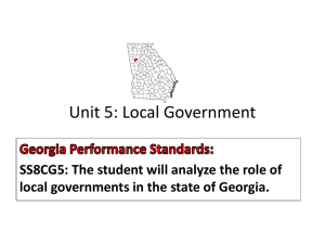 Local Government: Douglas County, Georgia