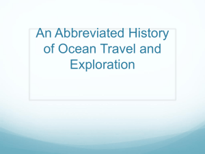 An Abbreviated History of Oceanography