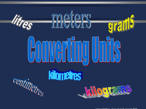 Conversion of Rates PPT