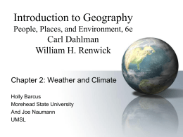 Weather and Climate - University of Missouri