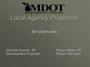Local Agency Programs