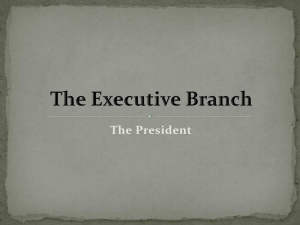 The President The Executive Branch