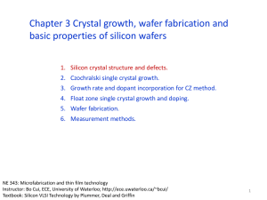 Chapter 3 Wafer fabrication I