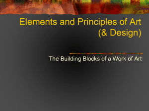 Elements and Principles of Art (& Design)