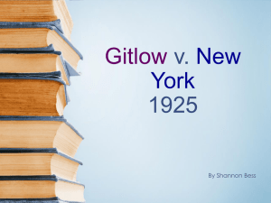 Gitlow v. New York 1925