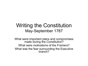 Writing the Constitution May
