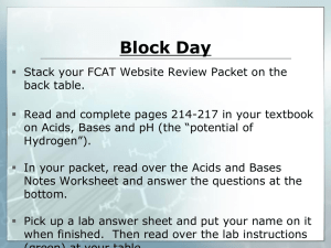 Acids & Bases - Ms. Wasson's Class Website