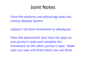 Joint Notes