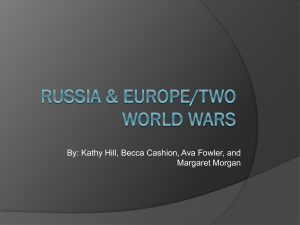Russia & Europe/Two world wars