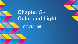 Chapter 5 - Color and Light