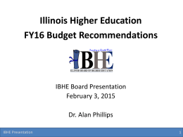 Budget Presentation - Illinois Board of Higher Education