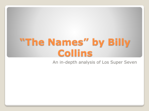 *The Names* by Billy Collins