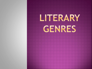 Literature Genre Study (Hex project)