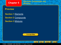 Chapter 5 Elements, Compounds, and Mixtures