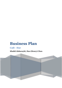 Business Plan - Edwards School of Business