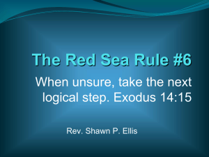 The Red Sea Rule #6 - Respass Ministries
