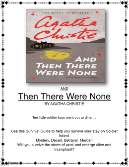 Differences similarities between the movie Clue and And Then There Were None by Agatha Christie?