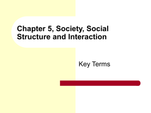 Chapter 4 Social Structure and Interaction in Everyday Life