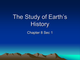 The Study of Earth s History Notes IP 9