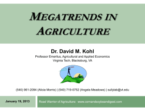 Agriculture & Agrilending