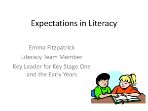 Expectations in Literacy for Year Two