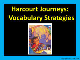 Unit 2 Lesson 7 Vocabulary Strategies Greek and Latin Word Parts
