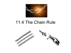 Lesson 11.4: The Chain Rule