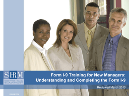 Understanding and Completing the Form I-9