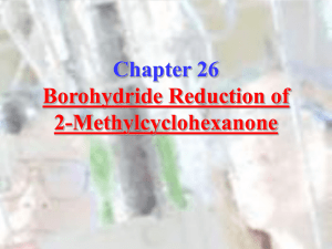Chapter 26: Borohydride Reduction of 2