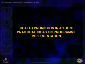 health promotion in action practical ideas on programme