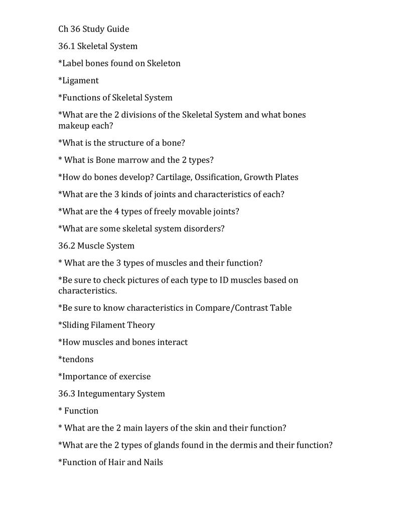 Ch 36 Study Guide