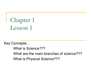 Physical Science Chapter 1.1