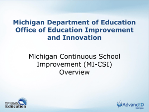 School Improvement Process Overview - Revised