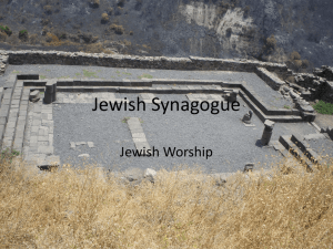 Jewish Synagogue - Oskaloosa Christian School