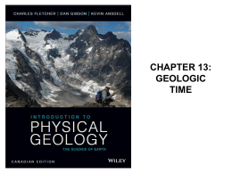 Geologic Events Used to Determine Age