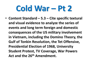 Cold War – Pt 2 Content Standard – 5.3 – Cite specific textural and