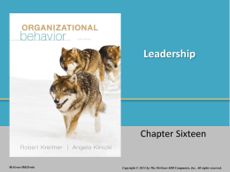 Leadership - McGraw Hill Higher Education