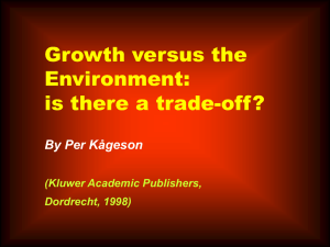 Growth vs. Environment
